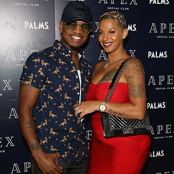 Ne-Yo and wife Crystal Renay at album release party