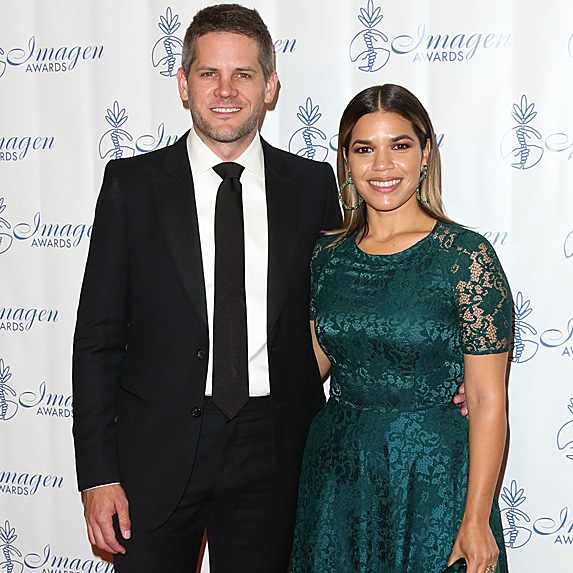 Ryan Piers Williams and America Ferrera at Imagen Awards