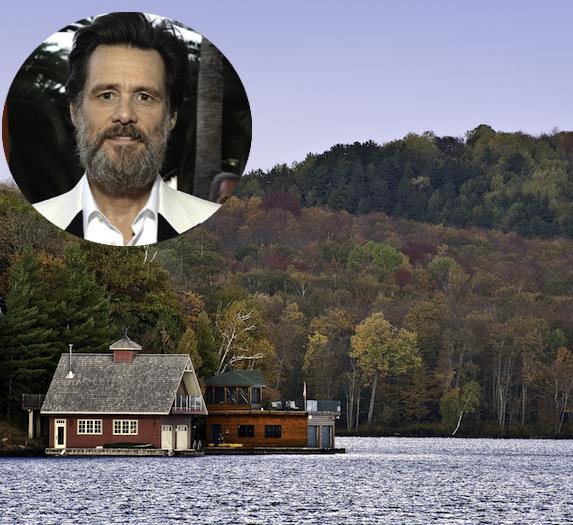 Jim Carrey and an image of Baptiste Lake