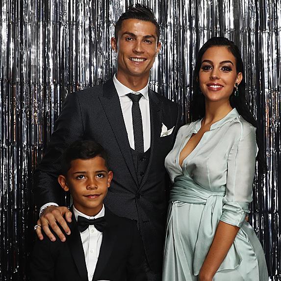 Cristiano Ronaldo, Georgina Rodriguez and his son, Cristiano Jr.