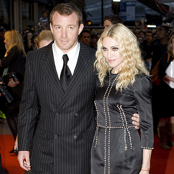 Guy Ritchie and Madonna at movie premiere