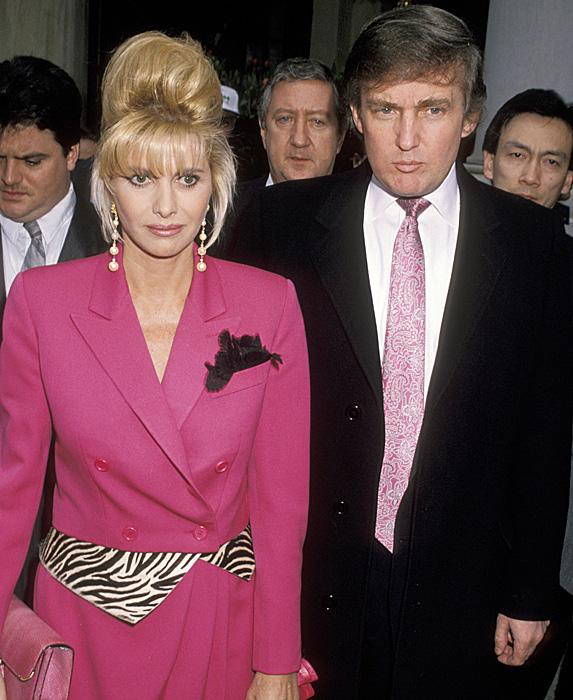 Ivana Trump and Donald Trump unsmiling
