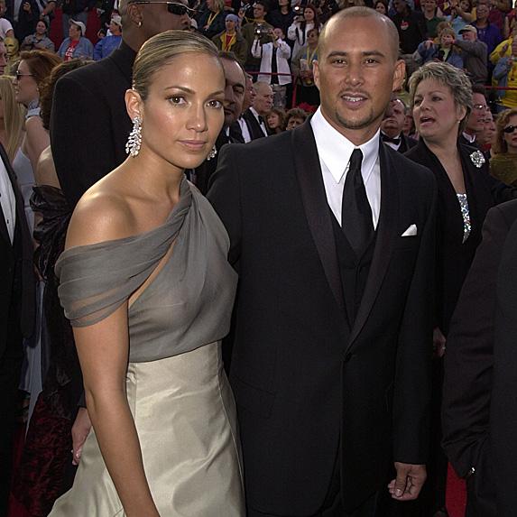 Jennifer Lopez and Cris Judd at awards ceremony