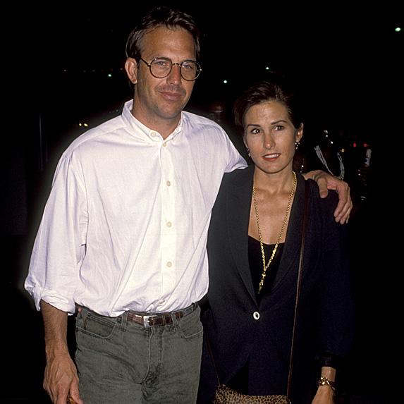 Kevin Costner and Cindy Silva walking