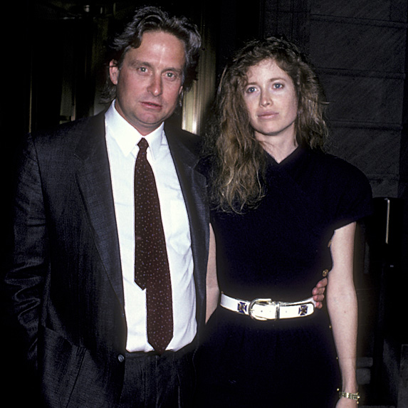 Michael Douglas and Diandra Luker looking miserable