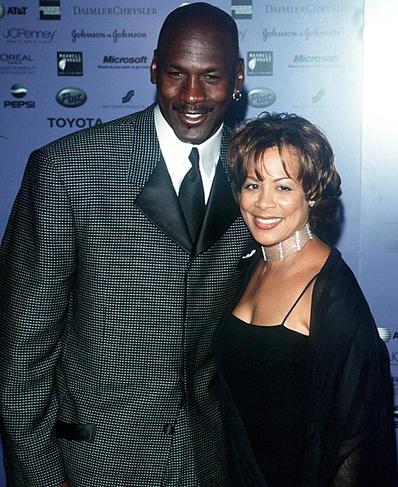 Michael Jordan and Juanita Vanoy at evemt