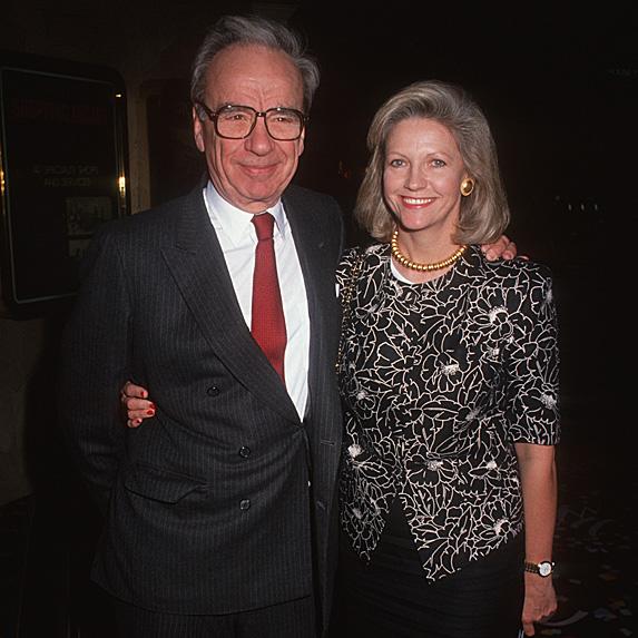 Rupert Murdoch and Anna Torv at event