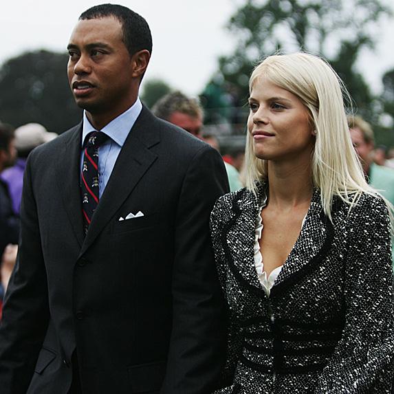 Tiger Wood and Elin Nordegren at golf gala