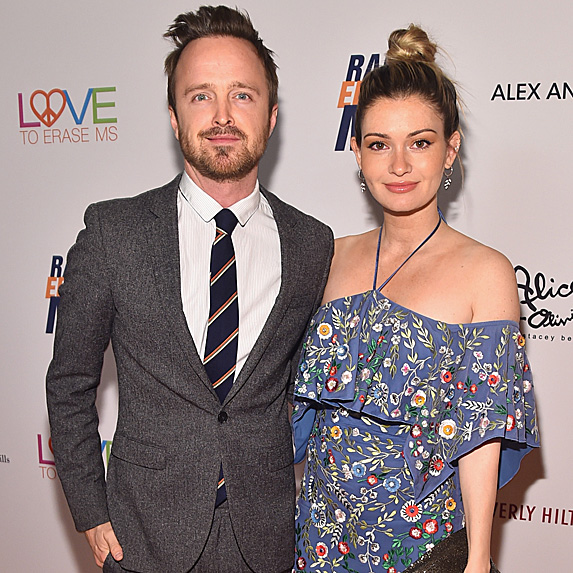 Aaron Paul and Lauren Parsekian attend the 25th Annual Race To Erase MS Gala