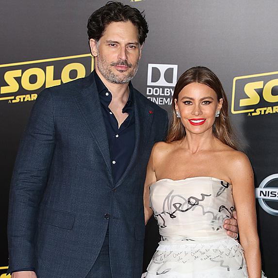 Joe Manganiello and Sofia Vergara at Solo premiere