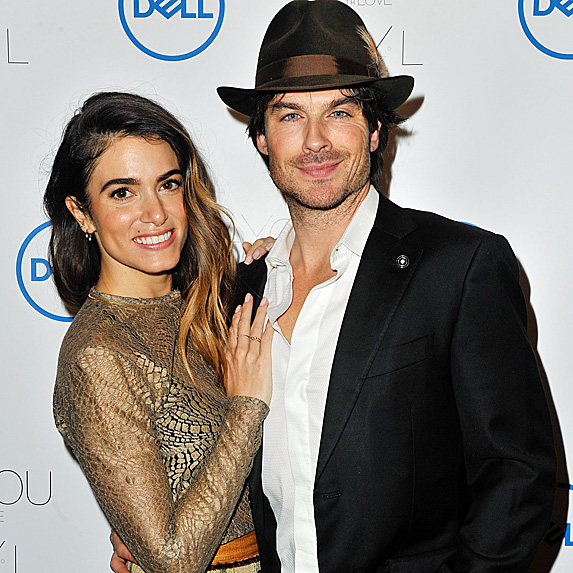 Nikki Reed and Ian Somerhalder at event announcing jewelry line
