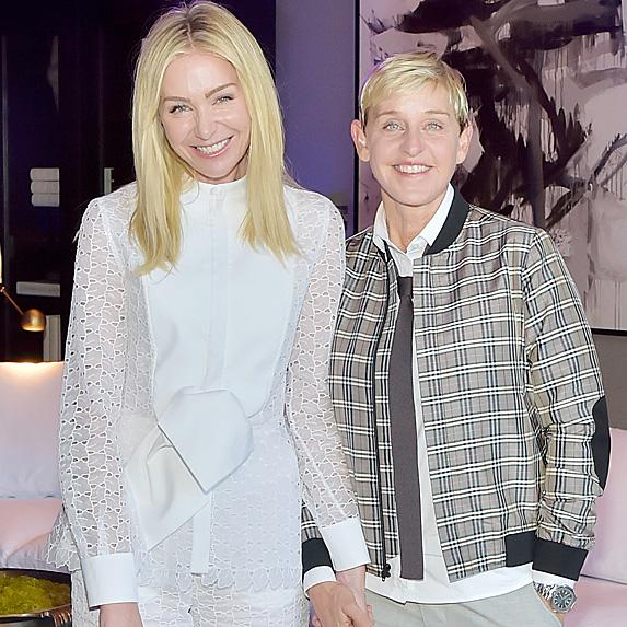 Portia de Rossi and Ellen DeGeneres attend Restoration Hardware event