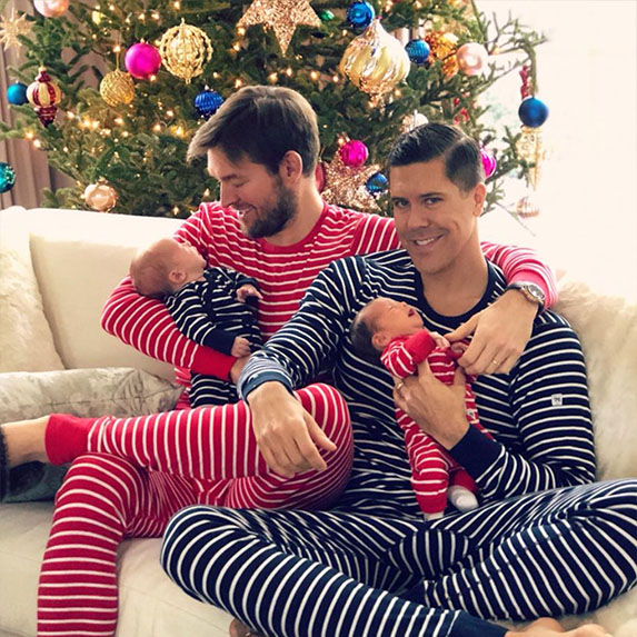 Fredrik and Derek's first Christmas as a foursome
