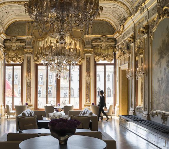 Grand salon at the Aman Venice