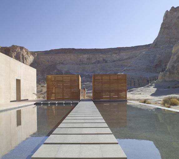 Views of the Amangiri resort spa pool