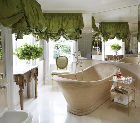Luxurious junior suite bathroom at Ashford Castle