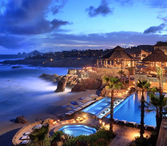 Evening views of the Esperanza resort exterior