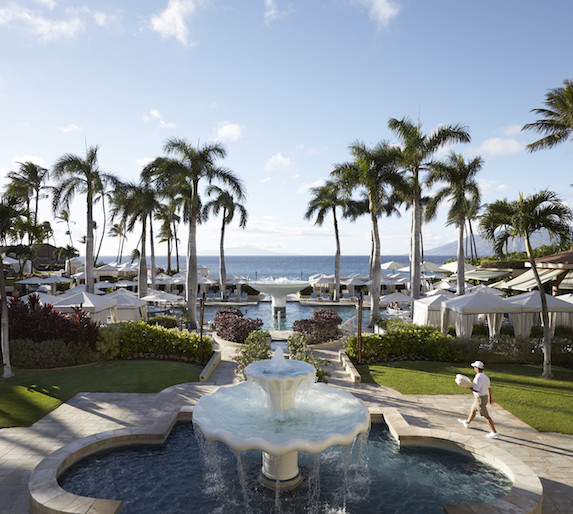 The exterior pool views at The Four Seasons Maui