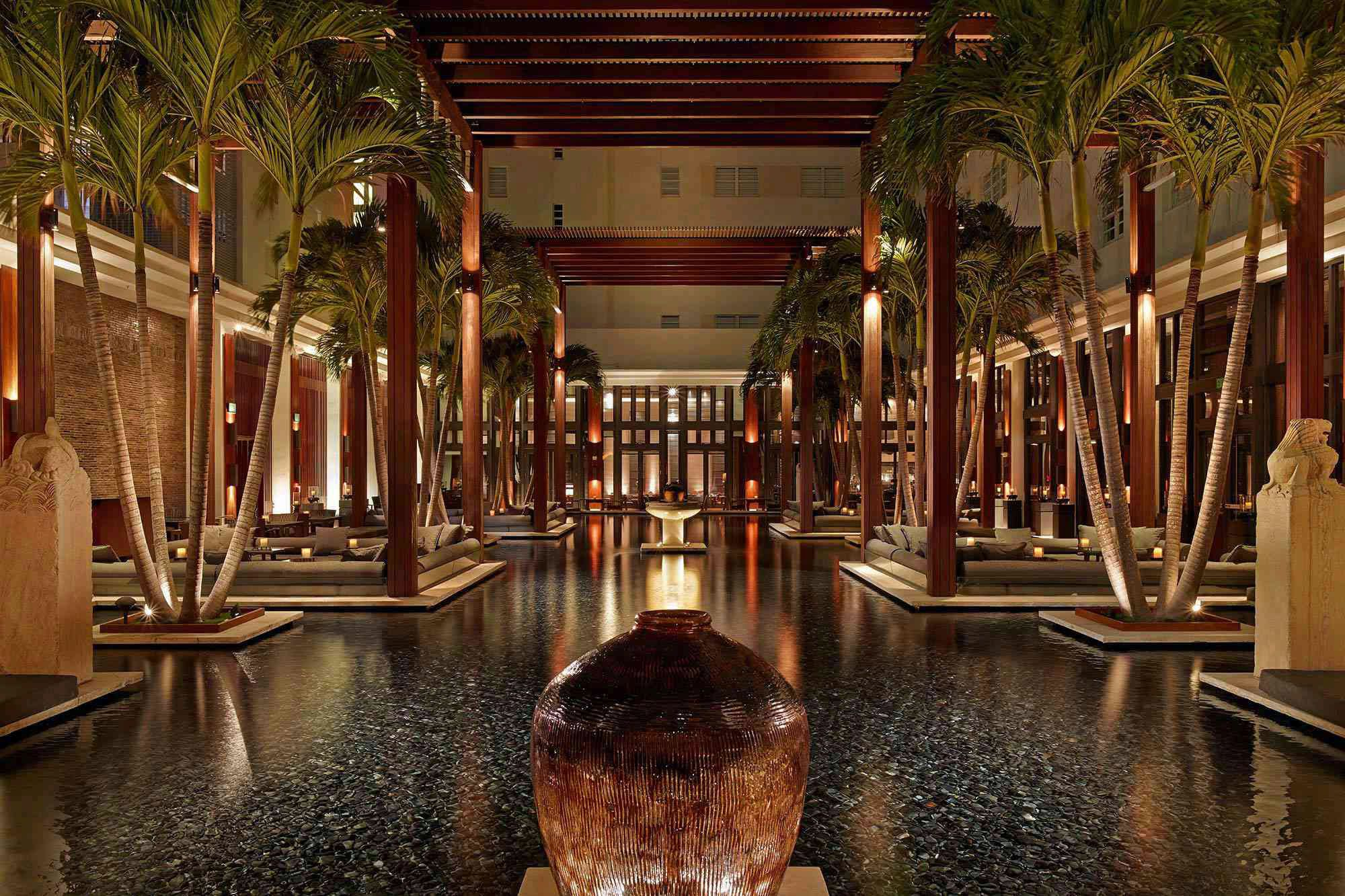 Outdoor seating area at The Setai