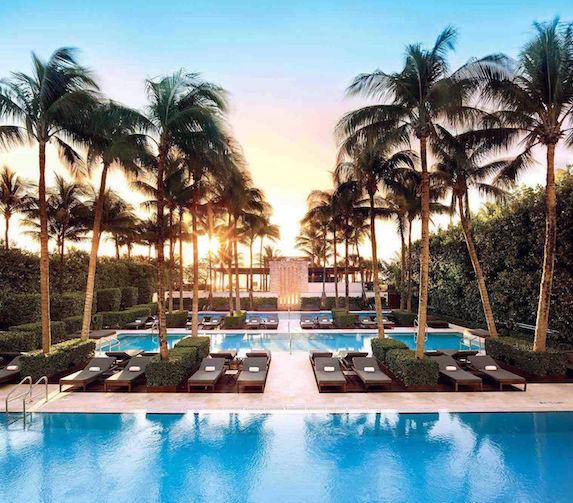 Pool views at The Setai hotel