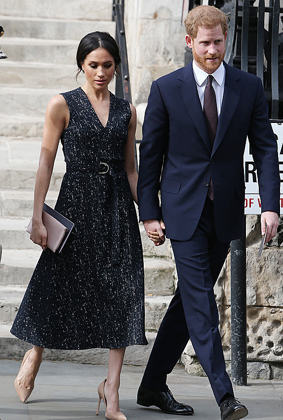 Meghan and Harry heading into memorial service