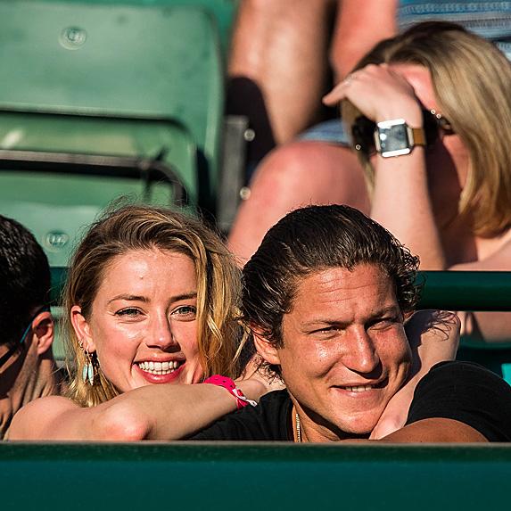 Amber Heard and Vito Schnabel at Wimbledon