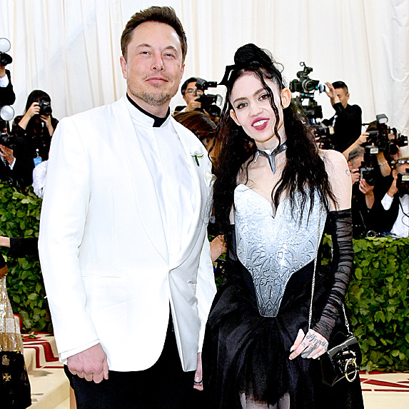 Elon Musk and Grimes at the Met Ball