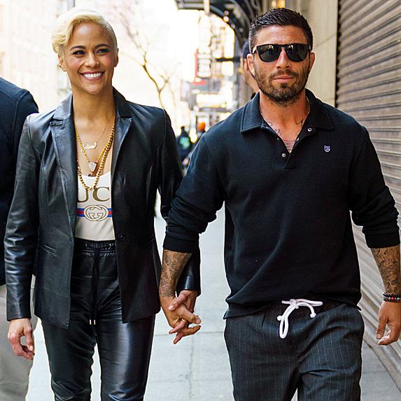 Paula Patton and Zachary Quittman walking in NYC