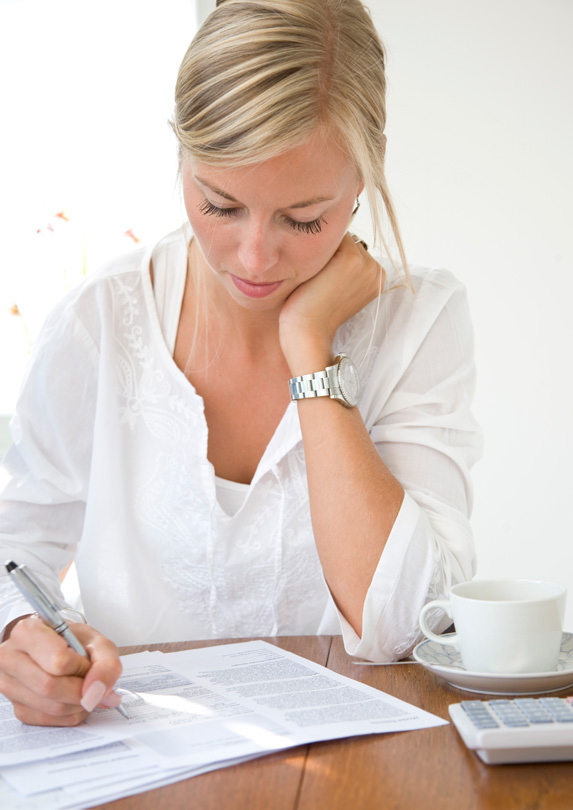 Woman planning retirement
