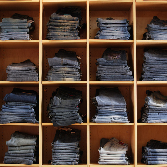 Display of jeans