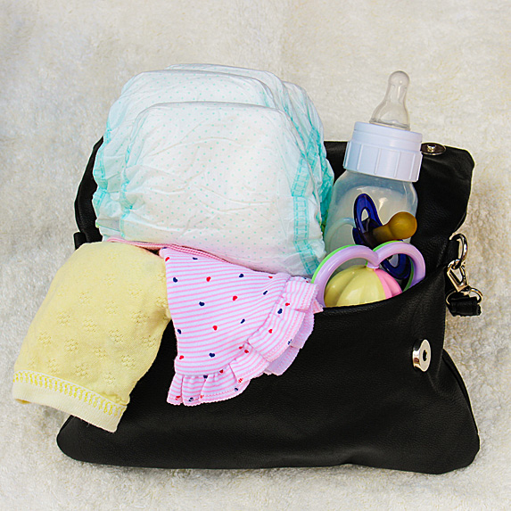 Small diaper bag overflowing