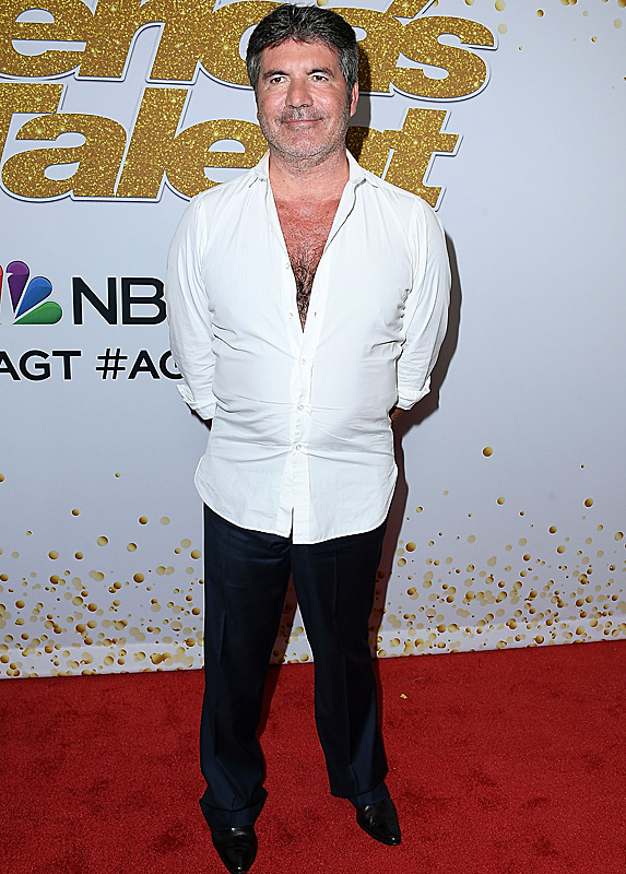 Simon Cowell at America's Got Talent filming