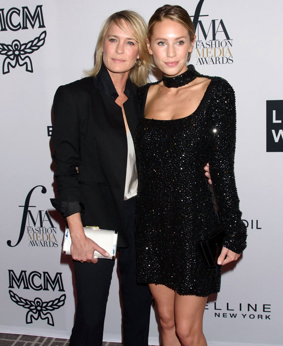 Robin Wright, Dylan Penn at arrivals for Daily Front Row 5th Annual Fashion Media Awards, Four Seasons Hotel Downtown, New York.