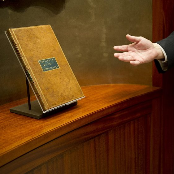 The President's personal copy of the Acts of Congress on display at auction
