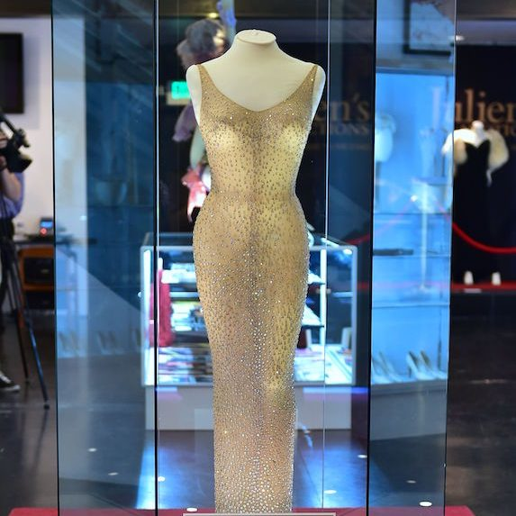 A famed dress once belonging to Marilyn Monroe on display