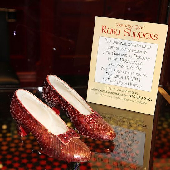 Ruby Slippers from the 1939 film on display