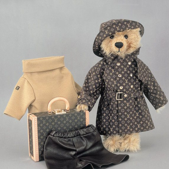 Louis Vuitton and Steiff teddy bear at auction