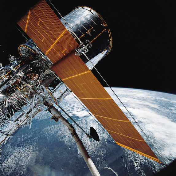 The Hubble Space Telescope with the backdrop of Earth