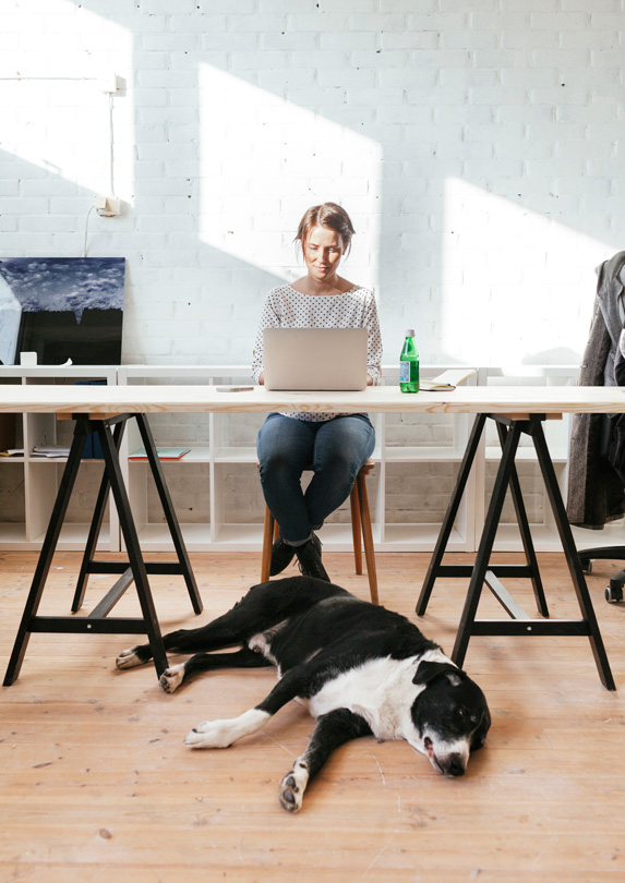Woman working on wealth building