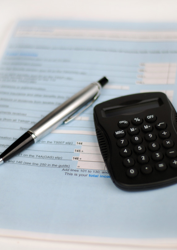 Income tax forms and calculator