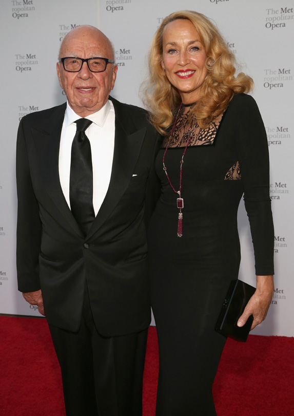 Jerry Hall married rich