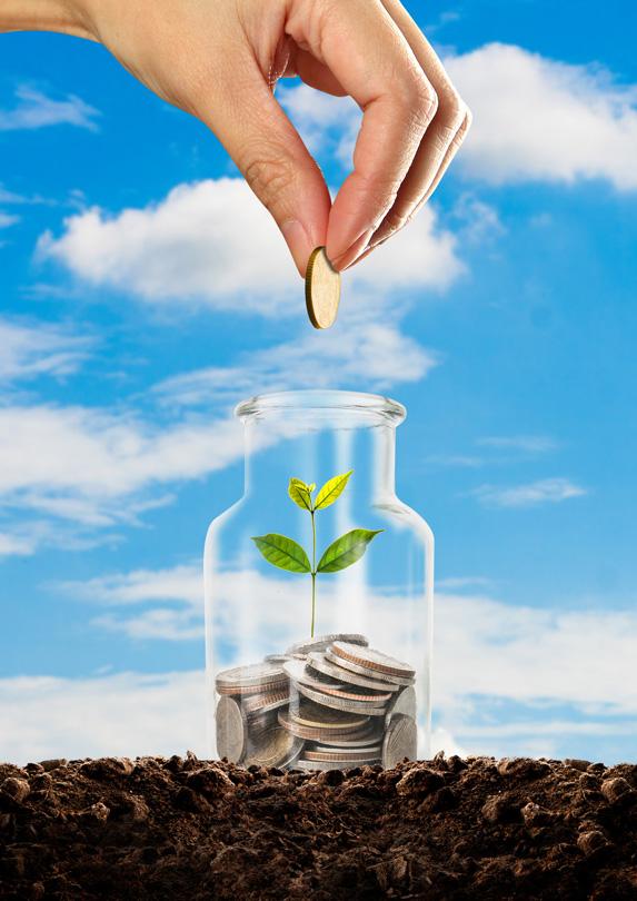 Saving money in a jar