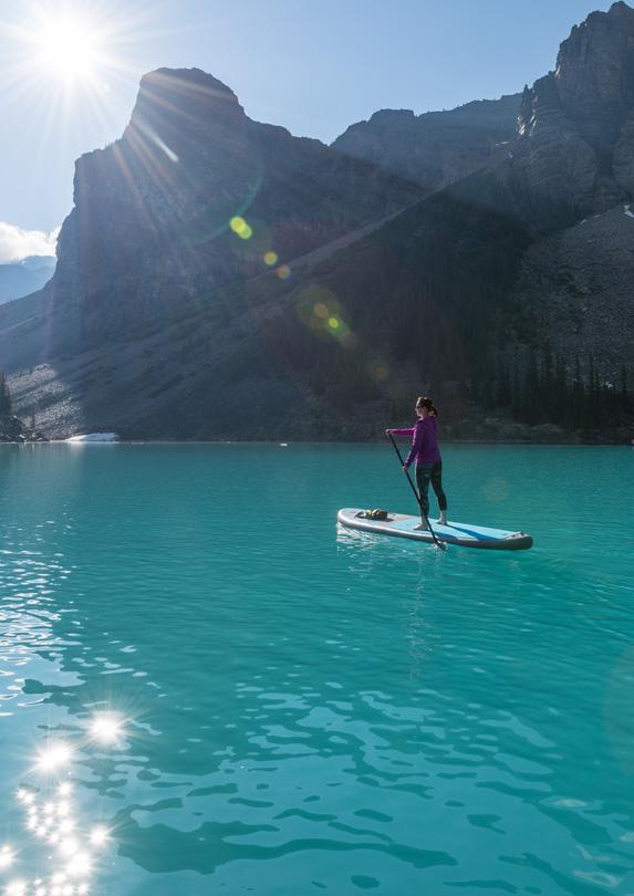 Woman on a paddleboard