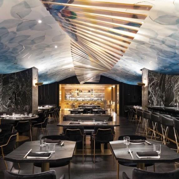 The dazzling interiors of Akira Back restaurant in Toronto
