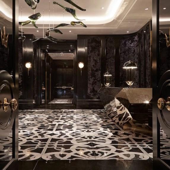 Open doors lead into the Bisha Hotel in Toronto