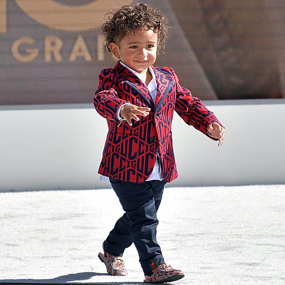 DJ Khaled's son walking around the BET Awards pre-show