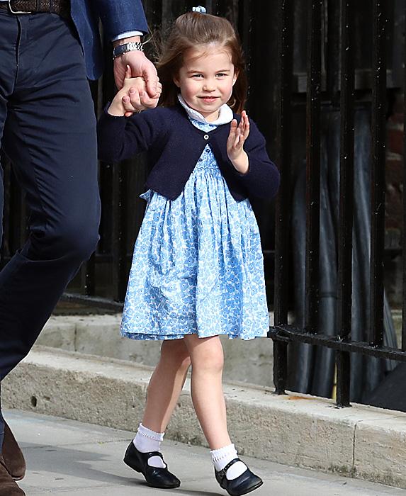 Princess Charlotte waving to photographers