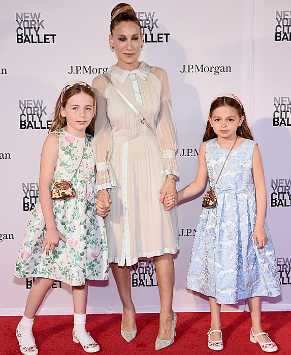 Sarah Jessica Parker and daughter Marion and Tabitha at the New York City Ballet Spring Gala