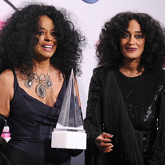 Diana Ross and Tracee Ellis Ross at the American Music Awards