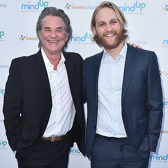 Kurt Russell and Wyatt Russell on red carpet
